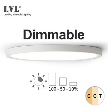 цены LED Ceiling Light Dimmable 12W 18W 24W 32W 220V With 3 Color Adjustable For Bedroom Livingroom Bathroom Modern Ceiling Lamp