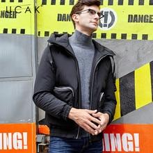 UCAK Brand Jackets Male 2019 Winter Fashion Pockets Hooded Polyester Casual Warm Thick Streetwear Men Clothing Jacket Coat U8018