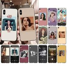Yinuoda Sexy cantante modelo Lana Del Rey funda para teléfono para iphone 12pro max 11 pro XS MAX 8 7 6 6S Plus X 5 5S SE 2020 XR caso