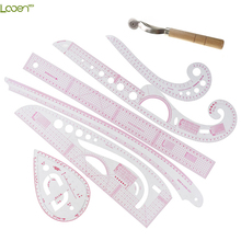 Multi Function Looen Curve Ruler Drawing Line Straight Sewing Clothing Rulers Sleeve Arm Cutting Button Comma Set