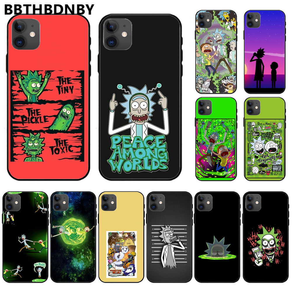 Rick And Morty For <font><b>iphone</b></font> 7 Phone Case Funny Cartoon Comic For <font><b>iphone</b></font> 11 pro max x xs xr 7 8 plus 6 <font><b>6s</b></font> 5 5s 5se <font><b>baseus</b></font> case image