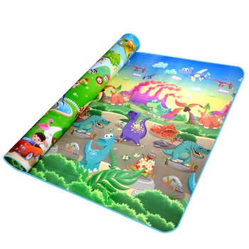 Baby Play Mat Thick Crawling Mat Double Surface Baby Carpet Rug Animal Car+Dinosaur Developing Mat for Children Game Pad