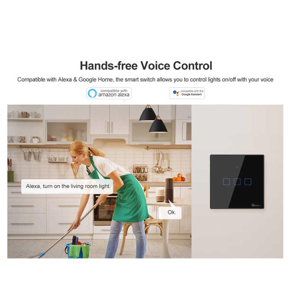 Nowy SONOFF T3 inteligentny przełącznik 1/2/3 Gang serii TX WIFI przełącznik do montażu ściennego RF pilot Wifi przełącznik Home lampka led przełącznik
