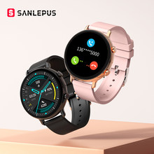 SANLEPUS – montre connectée ECG pour hommes et femmes, étanche, avec Bluetooth, appels, moniteur de fréquence cardiaque, pour Android, Apple, Samsung, nouveau, 2021