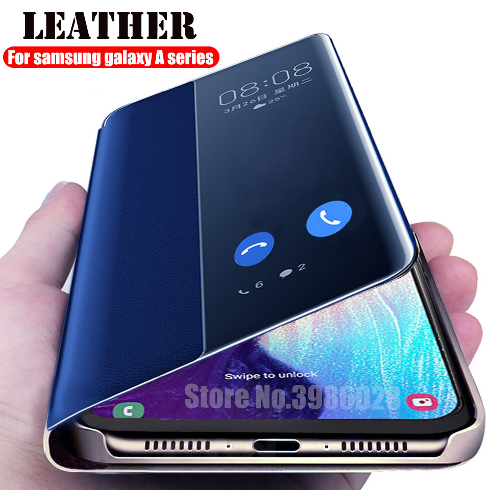 Filp Leather case For Samsung Galaxy A30 A20 A10 A40 A50 A70 A20e smart Book view Cover on for Samsung A 10 30 40 50 70 20 coque image