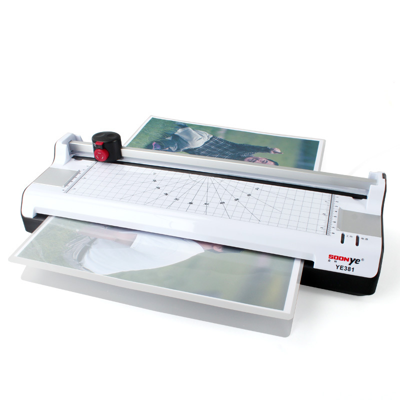 A3 Photo Paper Hot and Cold Thermal Laminator Machine Quick Warm-up Fast Laminating Speed with EU Plug Multifunctional functions