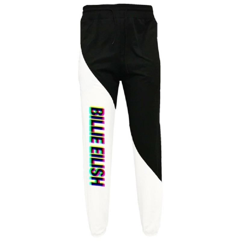 Men Women Cool Billie Eilish Letter Printed Drawstring Trousers Personality Loose Sweatpants Casual Elastic Waist Pants
