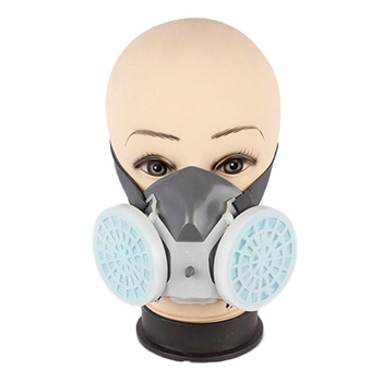 Dual Respirator Gas Mask Anti-Dust Twin Chemical Spray Paint Workplace Safety Protection Tools Dropship Hot Sale - discount item  40% OFF Workplace Safety Supplies