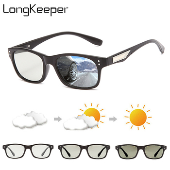 LongKeeper Photochromic Sunglasses Men Women Polarized Chameleon Glasses Anti-Glare Goggles Driving Sun Glasses UV400 Gafas