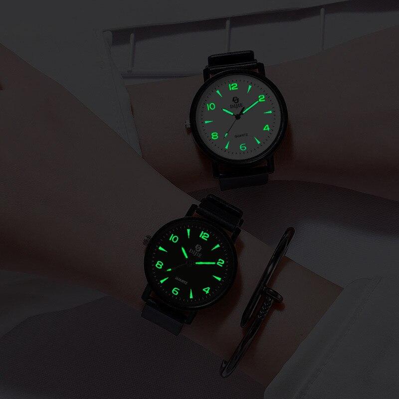 Simples relógios luminosos moda feminina marca de luxo relógio de quartzo casual mulher relógio de couro senhoras relógio de pulso montre femme