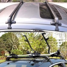 NEW Roof Rack Aircraft Aluminum Cross Bar Plastic Base Feet Stainless Steel Brace 60KG/132LBS Load Capacity For Car Accessories