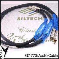 1 pair 1m 1.5m Siltech G7 770i 25th Anniversary Edition HiFi gold silver alloy plug RCA to RCA audio signal line wire cable cord