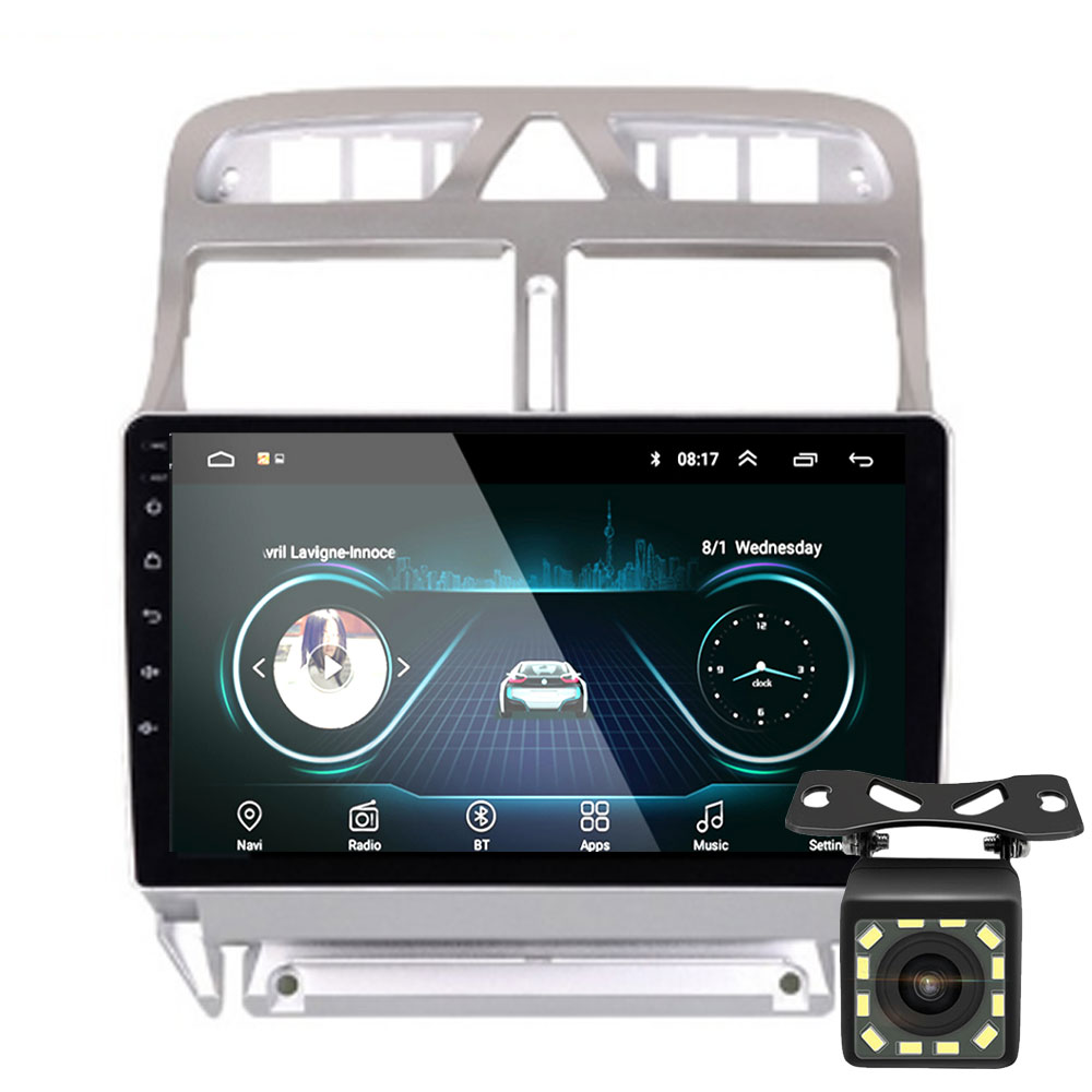 <font><b>2din</b></font> <font><b>Android</b></font> 8.1 auto DVD multimedia player Peugeot 307 307CC 307SW 2004-2013 auto radio <font><b>GPS</b></font> navigation WiFi Bluetooth-player image