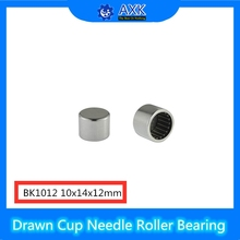 цены BK1012 Needle Bearings 10*14*12 mm ( 10 Pcs ) Drawn Cup Needle Roller Bearing  BK101412 Caged Closed ONE End 69541/10