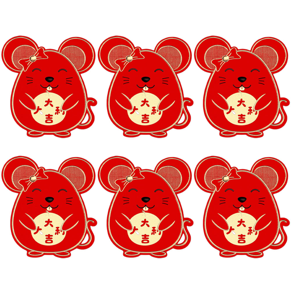 6pcs/set  Lucky Money bag Chinese Red Envelopes Lucky Pockets Red Packet For Chinese New Year And Party Gift Envelopes 2021-1