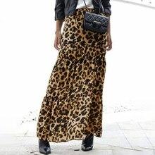ZANZEA-faldas largas estampadas con leopardo, de moda informal para verano, falda con cintura elástica, fiesta, holgada, Maxi, falda S-5XL