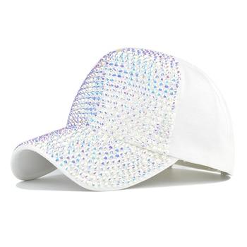 Women's New Fashion and Diamond Baseball Cap Outdoor Fashion Wear Sun Hat Hundred Travel Hiking Cap Youth Cap 2020