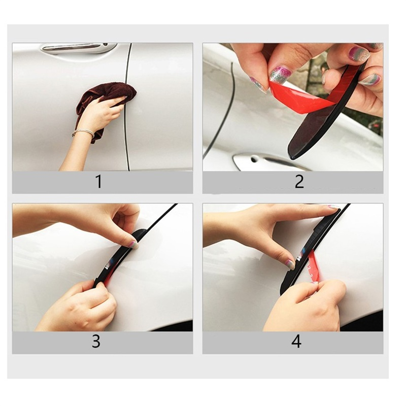 4pcs Car Styling Car Door Anti Scratches Anti Collision Strip Protector Case For Nissan Juke Tiida Teana GTR GTR 350Z 370Z 240SX in Car Stickers from Automobiles Motorcycles