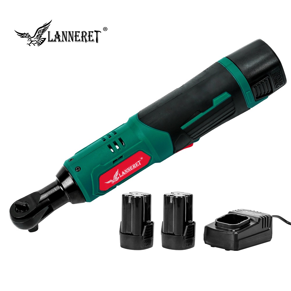 LANNERET 16.8V Electric Ratchet Wrench 70Nm Rechargeable Electric Wrench 3/8