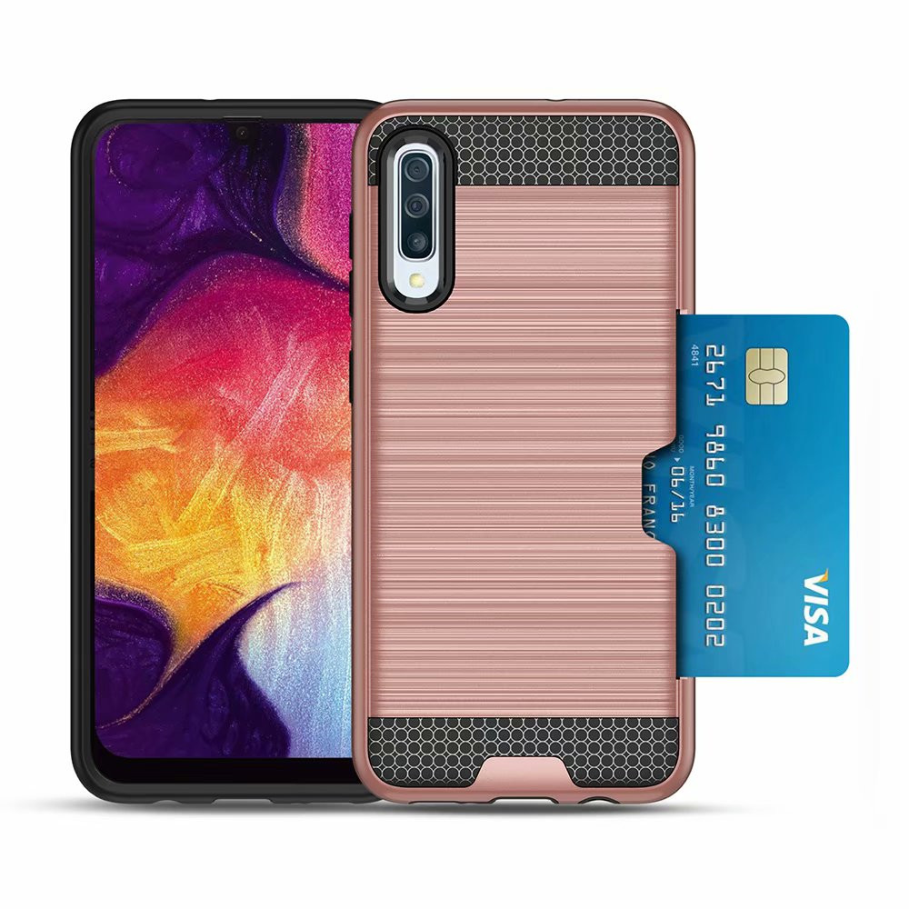 Shockproof <font><b>Case</b></font> For <font><b>Samsung</b></font> <font><b>Galaxy</b></font> A50 <font><b>A30</b></font> A20 Hybrid Card Holder Back Cover For <font><b>Galaxy</b></font> A80 A90 <font><b>Luxury</b></font> Wallet Mobile Shell <font><b>Cases</b></font> image