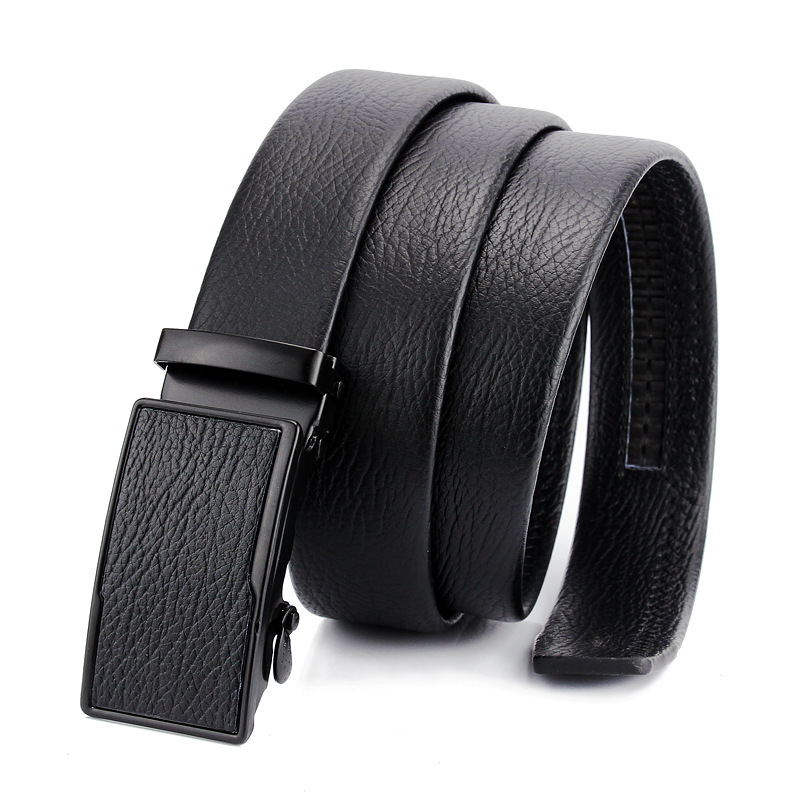 Mens Belt//Automatic Buckle Leather Belt//Young Business Belt
