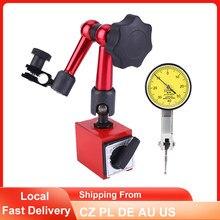 Indicador de Dial de 0-0,8mm, soporte magnético, Base de soporte, indicador de Dial, prueba magnética Universal, indicador de corrección de prueba