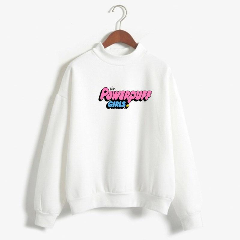 The Powerpuff Girls Hoody 2019 Winter High Collar Sweatshirt Autumn And Winter The Powerpuff Girls Sweatshirt, Ladies Amusement