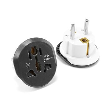 цена на 10pcs EU Plug In Adaptor Electrical US AU UK To EU Plug Adapter Converter Sockets EU KR Travel Adapter AC Charger Outlet
