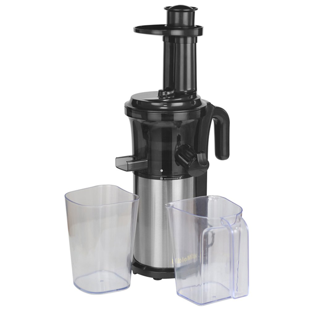 200W 40RPM Stainless Steel Masticating Slow Auger Juicer Fruit and Vegetable Juice Extractor Compact Cold Press Juicer Machine