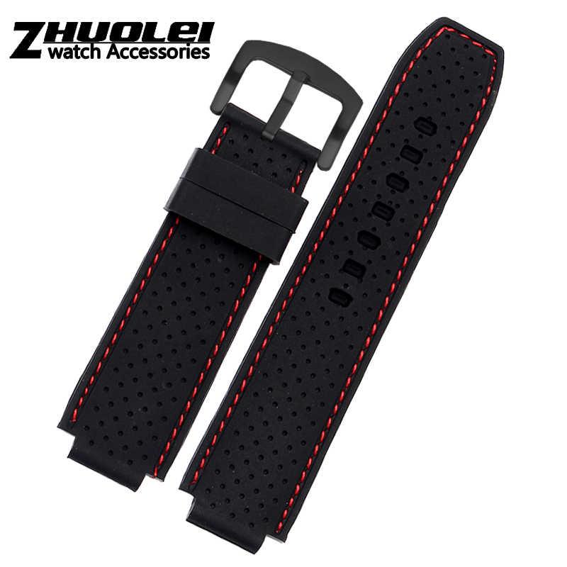 Per gli uomini di Timex T49859 | T2N720 | T2p141 | T2n722 | 723 | 738 | 739 Cinturino in gomma impermeabile cinghia di 24*16 millimetri lug end con strumenti di Vite pins