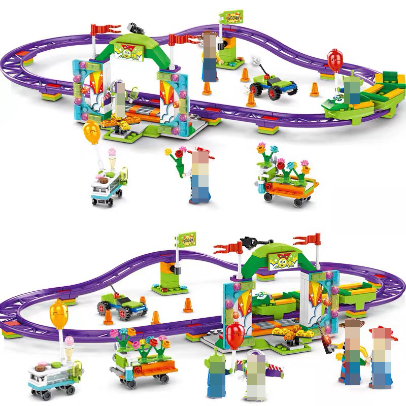 Image 5 - Toys Story 4 Movie Carnival roller coaster 324PCS train building block children toys gift 6697 contain Anime figures IN STOCKBlocks   -