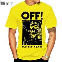 Novo!! OFF! T camisa branca do punk do hardcore do namorado do surfista