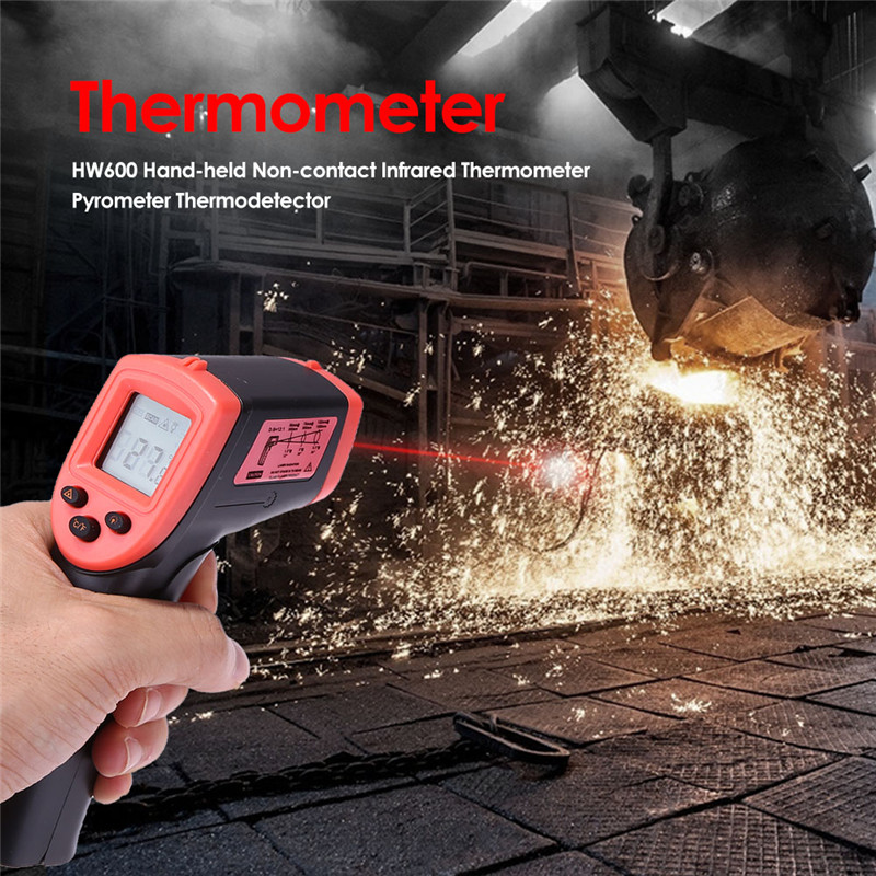 New Digital Infrared Thermometer Laser Temperature Meter Non-contact Pyrometer Imager Hygrometer IR Thermometer