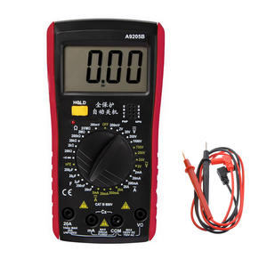 1PCS LCD Digital Multimeter Voltage Meter Tester A9205B ACDC Current Voltage Resistance Capacitance Meter with Tester Probe