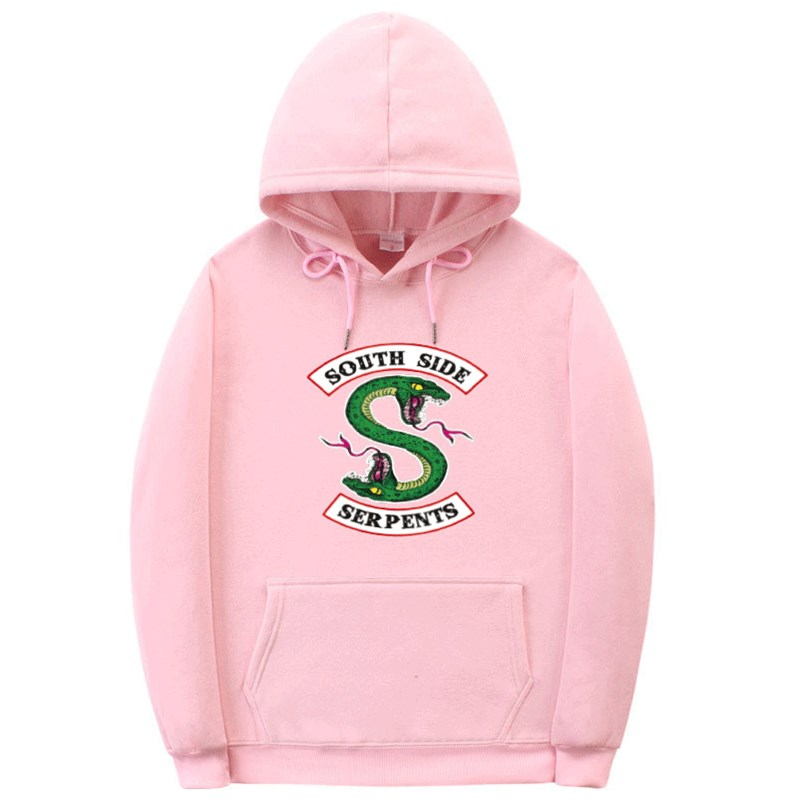 2019 New South Side Serpents Print Hoodie Sweatshirt Hip Hop Streetwear Autumn And Winter Hoodies Women Fashion Riverdale Hoodie
