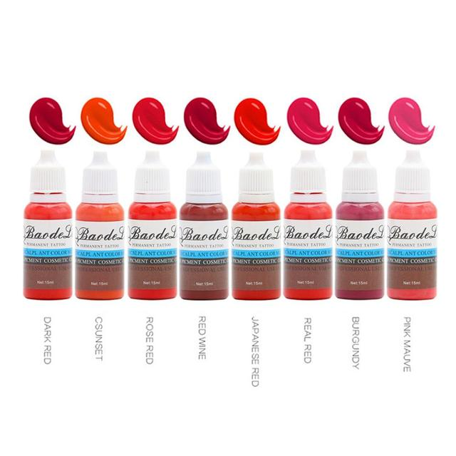 23 Colors Tattoo Pigment ink Eyebrow Lip Eyeline Pigment Coloring Cream Ink For Semi Permanent Body Paint Makeup Tool 5