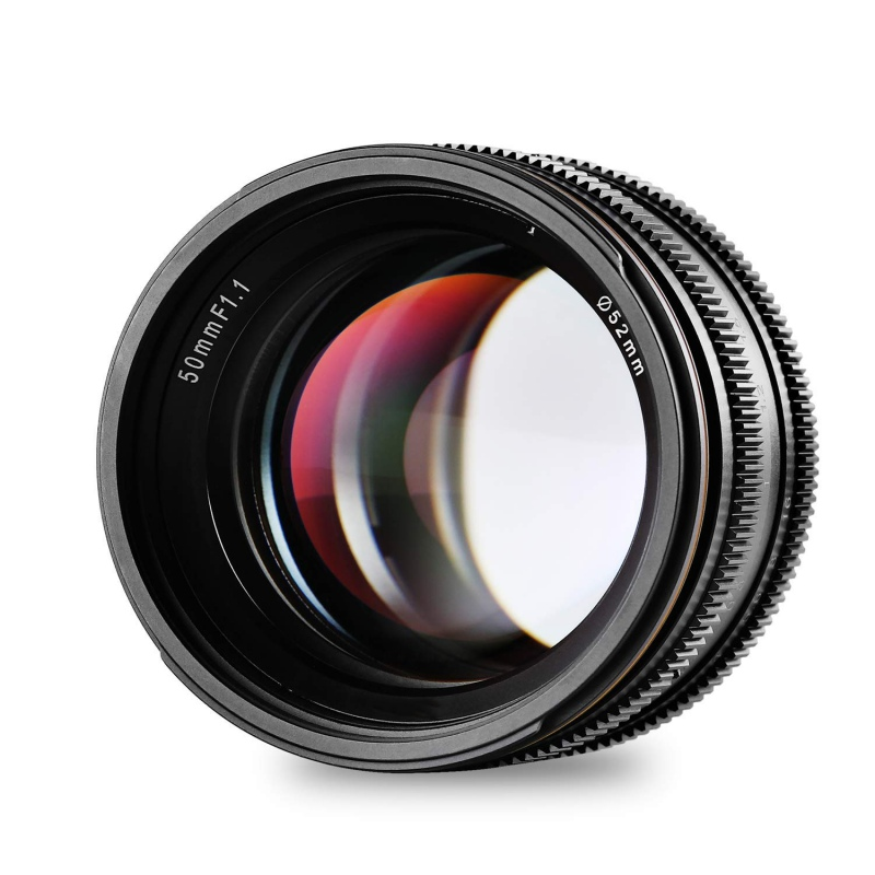 50mm F1.1 APS-C Large Aperture Manual Focus Lens For Canon NEX For Fuji X M4 EOS-M / 3 Camera Mount For Mirrorless Camera