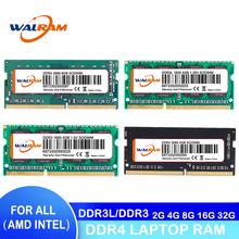 WALRAM pamięci ram ddr4 ddr3 8GB 4GB 16GB pamięć Ram laptopa 1333 1600 1866 2400 2666 DDR3L 204pin Sodimm pamięć do notebooka 1 2V1 35V 1 5V tanie tanio 1600 MHz CN (pochodzenie) DDR3 DDR4 240pin 1600MHz