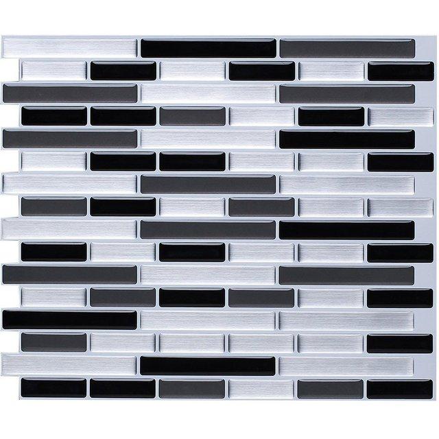 Self Adhesive Mosaic Tile Wall decal Sticker DIY Kitchen Bathroom Home Decor Vinyl W4 1