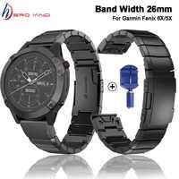 26mm Hohe Qualität Edelstahl Strap für Garmin Fenix 6X 5X Plus MK1 D2 Quickfit installieren Metall Uhr Band uhr Straps Correa