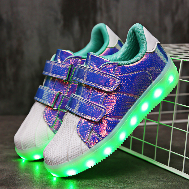RISRICH Kids Light Shoes With Led For Toddler Boys Girls Glowing Light Up Luminous Usb Charging Sneakers Kids Boy Girl Shoes