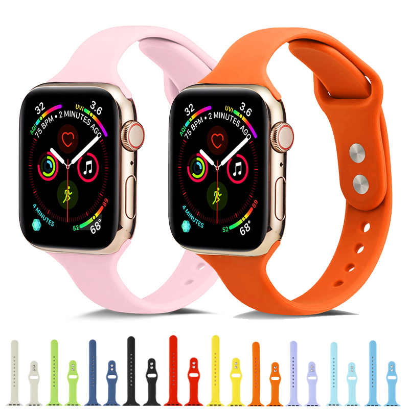 Sports Silicone Strap For Apple Watch 4 Band 44mm 40mm IWatch Band 38mm 42mm Bracelet Watchband For Correa Apple Watch 3/2/1
