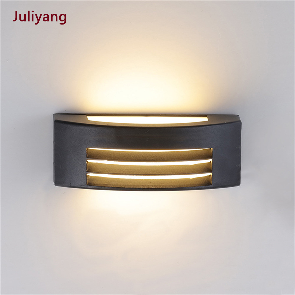 Modern Outdoor Waterproof Wall Light Simple Aluminum Alloy LED Wall Lamps E27 Courtyard Aisle Porch  Living Room Wall Sconce