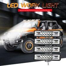 SUHU 48W Strobe Flash Work Light Led Light Bar For Trucks Offroad Atv Jeep Suv Moto G3L2 6000K 1500LM Combo LED Bar Work Light