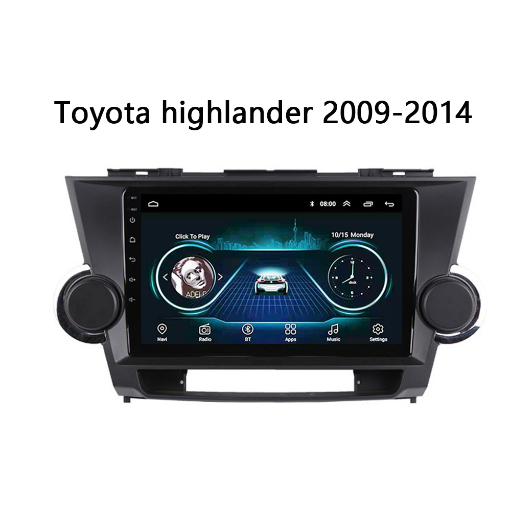 """Car stereo system for Toyota Highlander 2007-2013 multimedia DVD player head unit SWC FM bose WIFI Android 8.1 9"""" no 2 din"""
