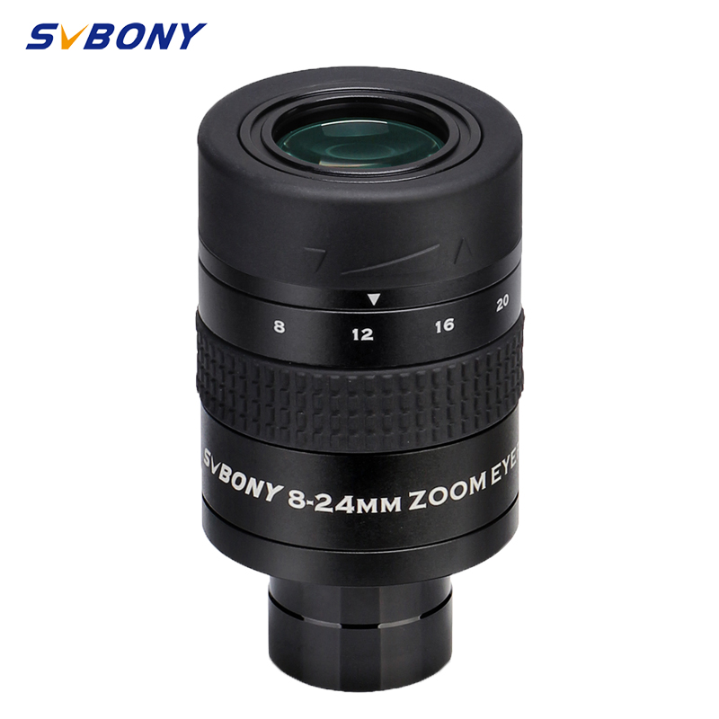 SVBONY SV171 1 25inch 8-24mm Zoom Eyepiece Lens FMC 7Elements 4 Group Structure for Monocular Astronomy Telescope