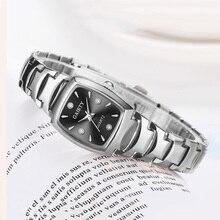 New Women Silver Steel Belt Bracelet Clock Fashion Rectangle Dial Quartz