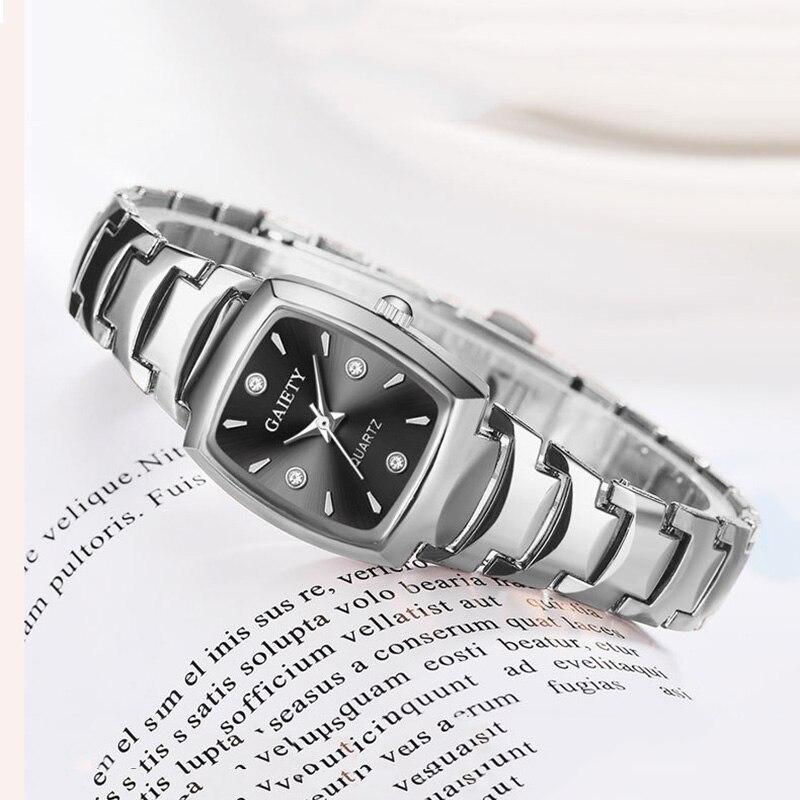 Nueva plata de las mujeres de la correa de acero pulsera reloj de moda rectángulo Dial reloj de cuarzo damas vestido impermeable relojes de mujer reloj Nuevos relojes NAIDU de oro rosa para mujer, relojes de pulsera para mujer, reloj de pulsera de cuarzo para mujer, reloj de pulsera informal para mujer kol saati