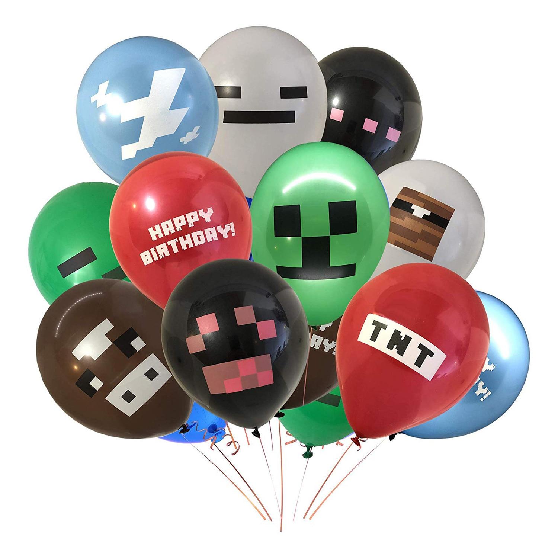 10 шт., pixelaed Red TNT шар, игра, латексные шарики для вечеринки, день рождения, украшения, игрушки для детей, Globos