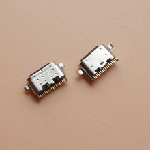 10 pces micro conector usb tipo c para lenovo p10 (modelo lenovo TB X705F, tipo za44) conector de carregamento tomada doca